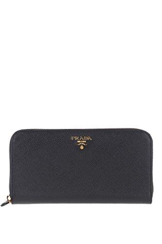 Prada Damen 1Ml506qwaf0002 Schwarz Leder Brieftaschen (Schwarz Prada Leder)