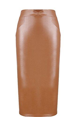 Vococal Falda de cintura alta / Bodycon de delgada cadera / Falda láp