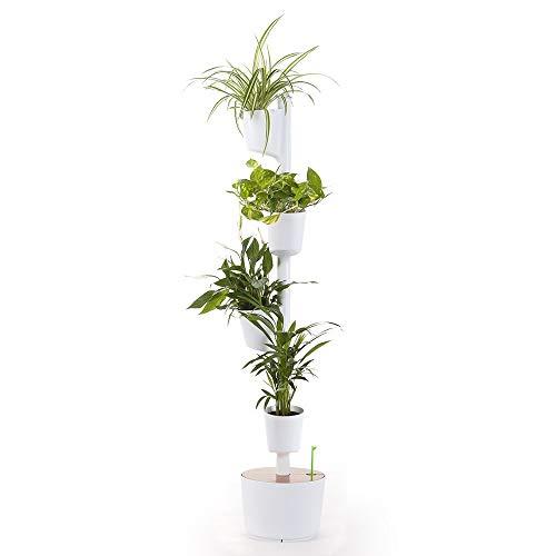 citysens - giardino verticale modulare con auto-irrigazione, bianco, 4 vasi
