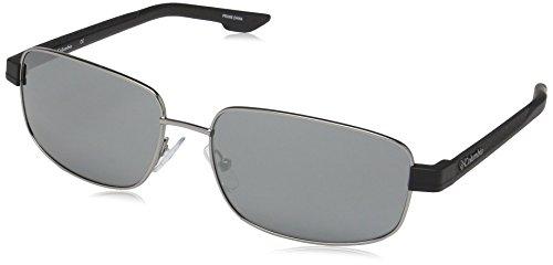 Columbia Men's Cliff Haven Rectangular Sunglasses, Satin Gunmetal /Smoke, 59 mm