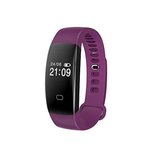 Elospy Sport Fitness Uhr Fitness Tracker mit Pulsmesser Wasserdicht IP67 Smartwatch Fitness Armbanduhr Schrittzähler Pulsuhr SSchlaf-Monitor Schrittzähler Armband Anruf SNS für Damen Herren