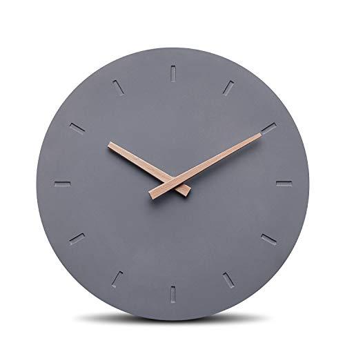 Cander Berlin MNU 6130 Designer Wanduhr aus Beton mit lautlosem Uhrwerk - 30,5 cm Ø - kein nerviges Ticken