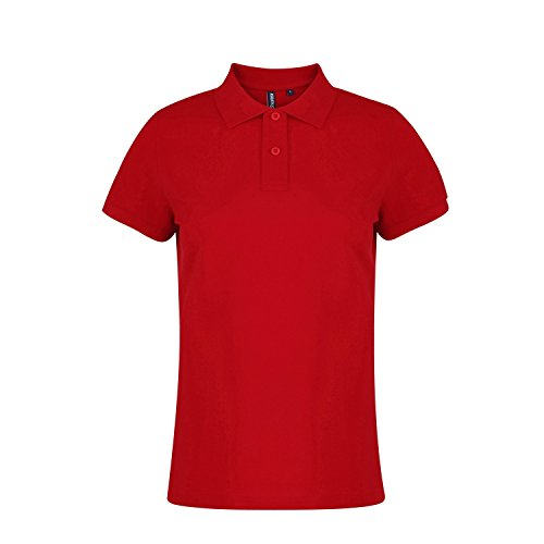 Asquith & Fox - Polo uni - Femme Rouge