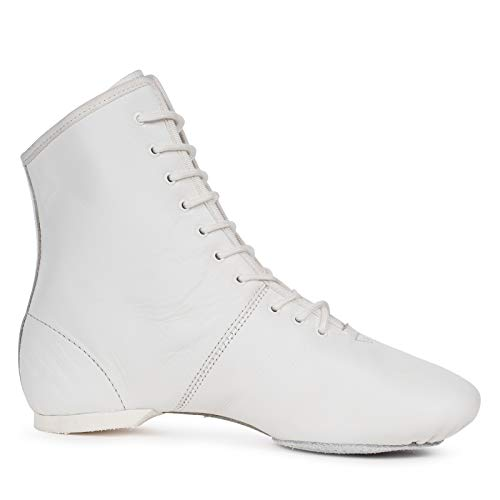 Kostov Sportswear Tanzstiefel Profi (aus Leder, Geteilte und gleitfähige Chromledersohle, turniertauglich) weiß, Gr.41