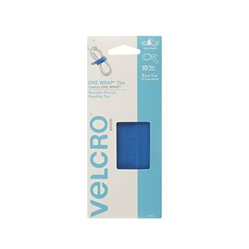 Klettverschluss Marke-one-wrap für Kabel, Drähte & Bindekordeln 10 Count - 5