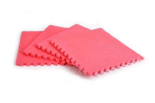 FA Sports Bodenschutzmatte Protectfloor Xtra Set 4pcs, Pink, 60 x 60 x 2 cm, 617