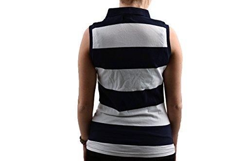 Converse Smanicata Polo Nuovo Abbigliamento Donna Blu/Bianco