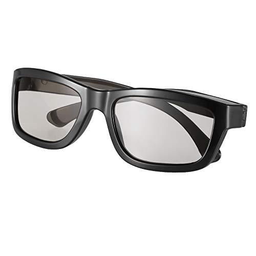 Passive 3D-Brille Circular Polarized Lenses Für Polarisiertes Fernsehen Real D 3D Cinemas Für Sony Panasonic LG Philips (Color : Black)