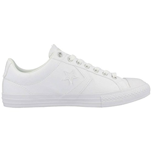 Converse Star Player Junior White Synthetic Trainers Bianco