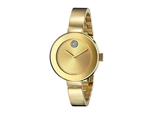 Movado Bold 3600201 - Orologio da polso da donna, cinturino in acciaio inox colore oro