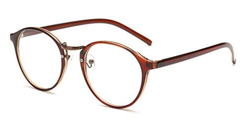 Flydo Slim Rechteck Nerd brille Retro Rund Unisex ; Dekogläser Klassisches Mode Damen/Herren Brillen Clear Brille