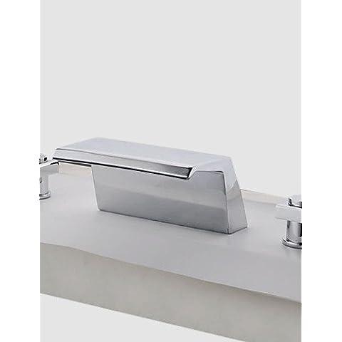 Rubinetto ZSQ due maniglie cromate vasca a cascata rubinetto (0778 - SY-TG-1026A) , Europa flessibile standard