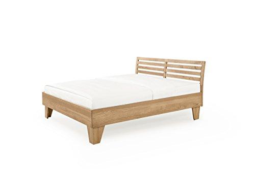 Hoss Davis Massivholzbett, Holz Buche, 200x180x48 cm