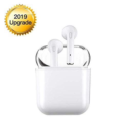 Ice cherries Bluetooth Headset V5.0 Kabellose Kopfhörer In-Ear-Kopfhörer Stereo Noise Cancelling-Kopfhörer Sportkopfhörer mit Ladegerät und eingebautem Mikrofon für Apple Airpods Android iPhone - Ohrhörer Farbe Für Apple