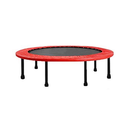 SPTAIR 48 Zoll Falttrampolin mit Sicherheitsauflage für Indoor-Garten-Workout Cardio-Training Tragbare Bungee-Fitness für Erwachsene oder Kinder