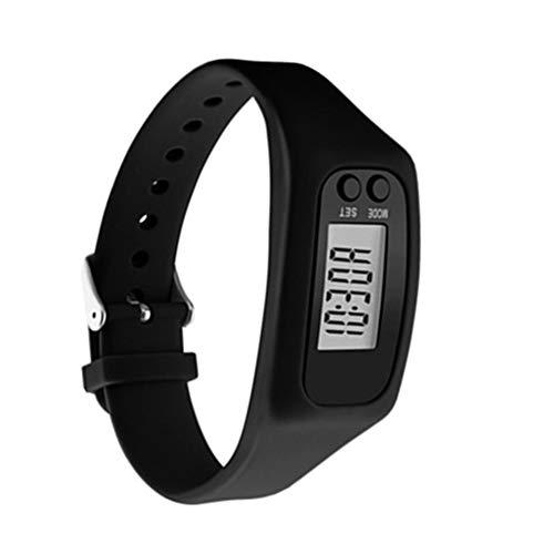 Fitness Tracker, Aktivitätstracker, Pedometer, Schrittzähler, Kalorienzähler, Entfernungs-Rechner und Sport-Uhr. Kein Bluetooth, Keine APPs, Leichte Einstellungen (Schwarz)