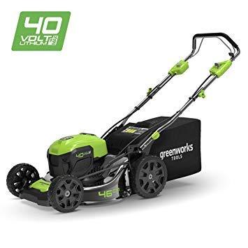 Greenworks Tools 40V Akku Rasenmäher 46cm brushless mit Radantrieb 2506807(inkl. 6Ah Akku und Ladegerät)