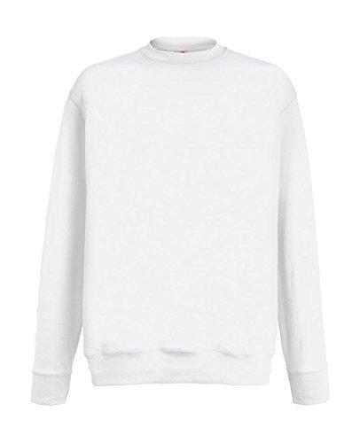 Fruit of the Loom Herren Sweatshirt Lightweight Set-in Sweat White