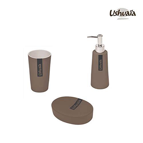 Ensemble de salle de bain - 3 pièces - Ushuaïa - Bora Bora - Taupe