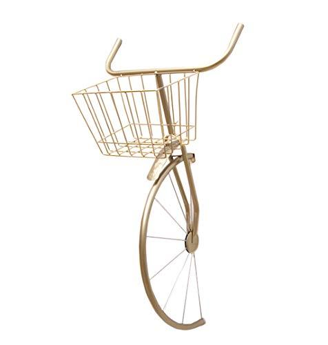 LYJ-bg-Fashion capital Eisen Vintage Wand Fahrrad Modell Dekoration Restaurant Bar Dekoration Wandbehang (Gold/Gelb/Schwarz) (Color : Gold)