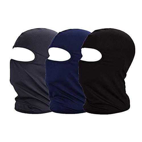 Imagen de lioobo máscara de caza racing cs pasamontañas a prueba de viento  a prueba de polvo juego de montar flying hood riding equipment sport mask 3 pack