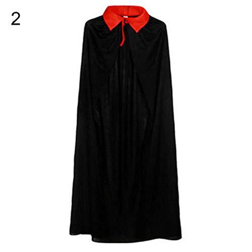 LEUM SHOP mothcattl Kinder Kinder Halloween Vampir Cape Devil Demon Wende Mantel Kostüm 2 80cm (Kinder Klassische Vampir Kostüm)