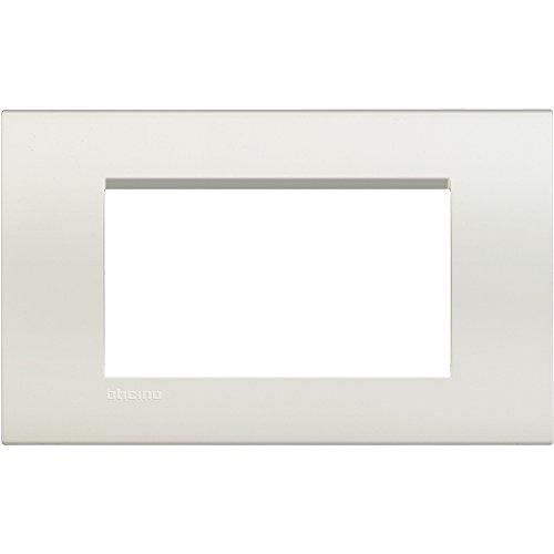 Bticino LNA4804BI Placca 4 Moduli, Bianco