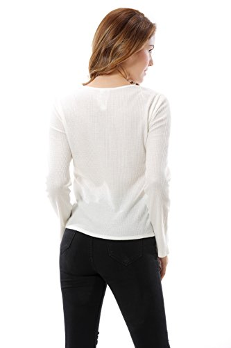 Apperloth A Top à manches longues - Femme Blanc