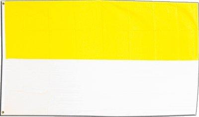 fen gelb-weiß + gratis Sticker, Flaggenfritze® (Gelben Banner)