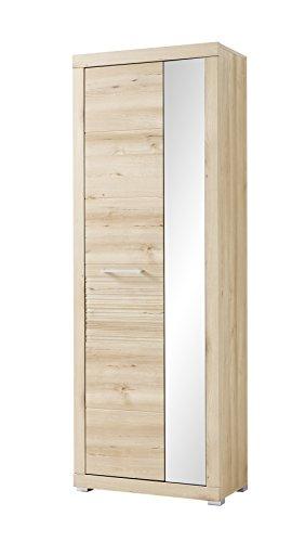 Stella Trading Targa Schrank, Holz, braun, (B/H/T) 72 x 201 x 37 cm