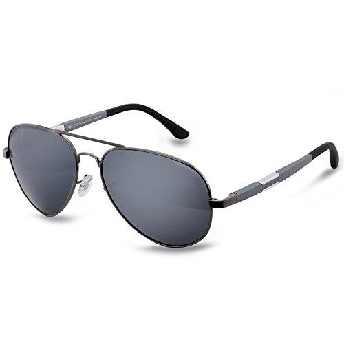 Gafas de sol polarizadas estilo aviador Unisex de Duco, gafas de piloto...