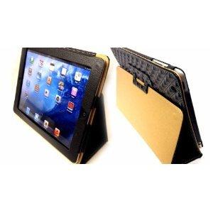 Überragende Qualität Schwarz Diagonale Muster iPad 4 Hülle aus Leder für iPad 3 und iPad 2 Ipod Nano 3g Flip Case