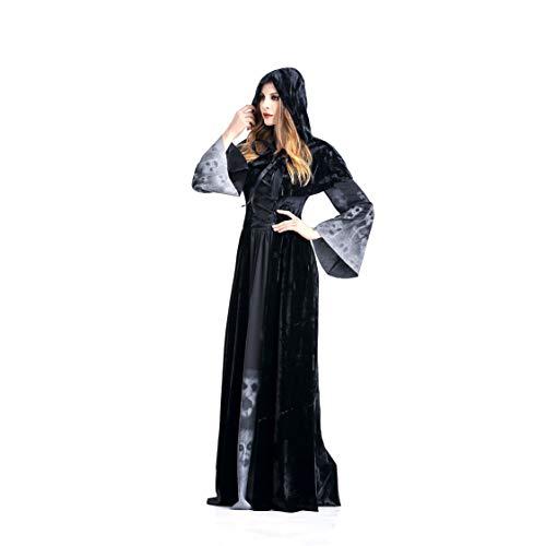 FHTD Halloween Kostüm Karneval Erwachsene Cosplay Magic Witch Dress Dress Up,L -