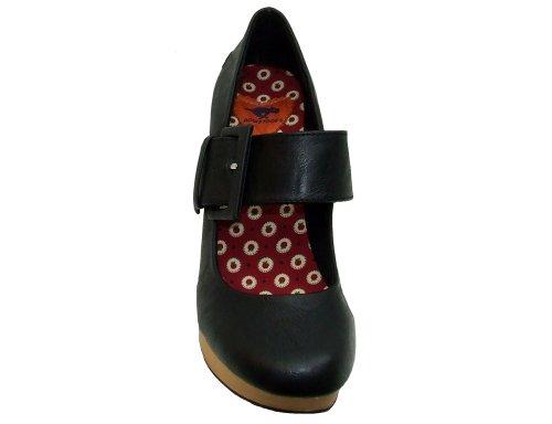 Rocket Dog Women's Aneska Slick PU Platform Heeled Court Shoes 3 -...