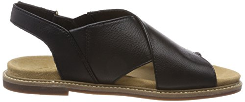 Clarks Damen Corsio Calm Slingback Sandalen Schwarz (Black Leather)
