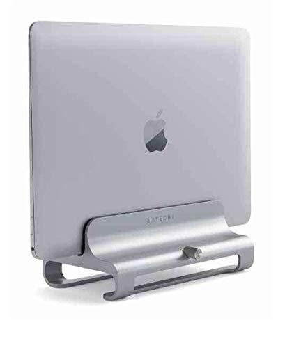 SATECHI Supporto Verticale Universale in Alluminio Compatibile con Laptop, MacBook, MacBook PRO, dell XPS, Lenovo Yoga, ASUS Zenbook, Samsung Notebook e Altri (Argento)