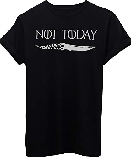 T-Shirt Not Today Arya Stark Quote Game of Thrones-Serie TV - Uomo-M-Nera
