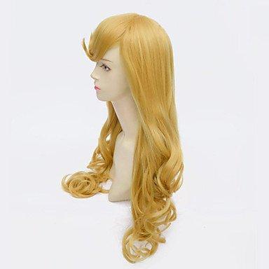 HJL-Dornröschen Prinzessin Aurora Perücke langen lockigen goldenen Anime Cosplay Perücken , blonde