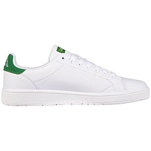 Kappa Court Unisex Unisex-Erwachsene Sneakers Weiß (1030 white/green)