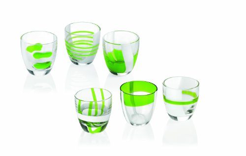 Guzzini 28690644 Set Table Art Gift Of 6 bicchieri liquore