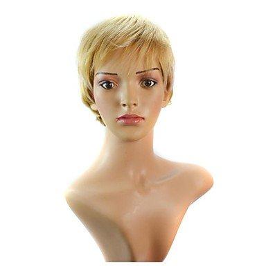 HJL-les femmes allument cheveux boucl¨¦s court or perruques synth¨¦tiques , 12 inch