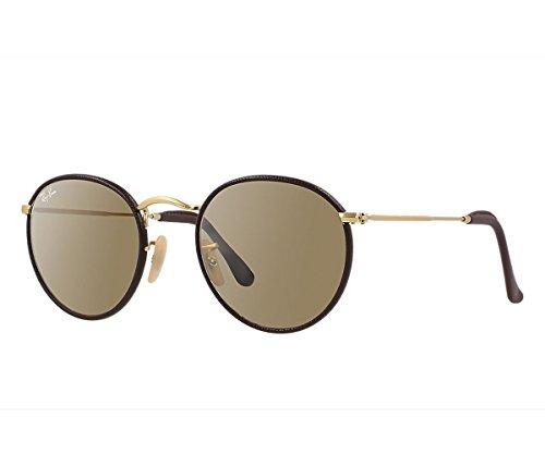 Ray-Ban Sonnenbrille ROUND CRAFT (RB 3475Q) 112/53: Matte gold, dark leather