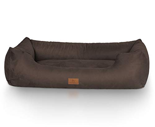 Knuffelwuff 12628 Hundebett Dreamline – Größe M 85 x 63cm, braun - 2