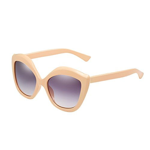 Honestyi Neutrale Cat Eye Sonnenbrille Retro Heart Frame UV400 Eyewear Fashion Ladies 66393 Mode neutrale Pfirsichherz