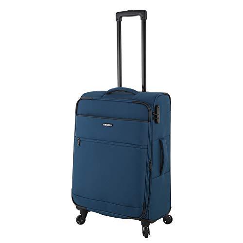 Rada Koffer Gepäck Cloud 4W Reise Trolley sehr leicht mit 4 Rollen Reisekoffer mit Zahlenschloss Verschiedene Größen, Set (Petrol blau, M - mittlerer Koffer mit 65 cm)