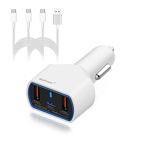 BatPower UL 120W 90W 87W PD USB-C Auto-Ladegerät für MacBook Pro 13 15 Surface Book 2 Razer Blade Stealth HP Spectre X360 Dell Lenovo Asus Acer Laptop USB C Car Charger Kfz-Netzteil -Verbinder Type C - 120w Usb