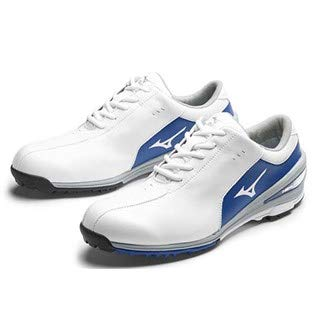 Mizuno 2017 NEXLITE SL Ultra-Light Spikeless Waterproof Mens Golf Shoes - White/Blue 7UK