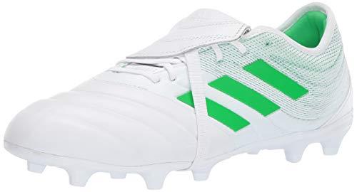 adidas Herren Firm Ground Copa Gloro 19.2 Fester Boden, Weiß/Solar Lime/Weiß, 43 EU