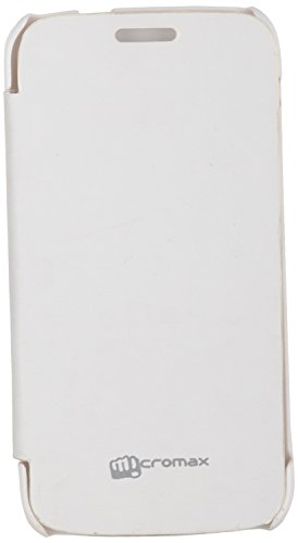iCandy™ Synthetic Leather Flip Cover For Micromax Canvas Turbo Mini A200 - WHITE  available at amazon for Rs.170