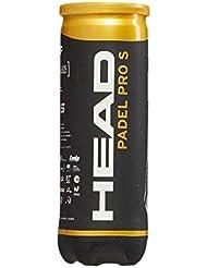 Head Padel Pro S Pelotas, Adultos Unisex, Negro, S